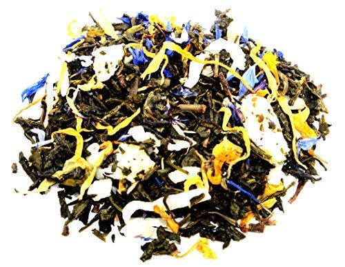 Nelson's Tea - Pina Colada - Green Loose Leaf Tea - Green Tea, coconut, dried pineapple, and marigold petals - 2 oz.