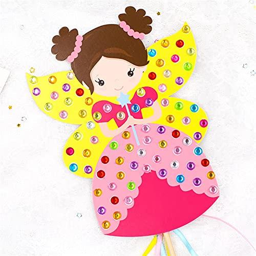 TLBBJ Juguetes artesanales Niños DIY Fairy Stick Hecho a Mano Princess Stick Toy Materiales Hecho A Mano Paquete Pegatina Gift Regalo DIY Artesanía Juguetes Sencillo (Color : B)