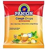Panjon Cough Drops, Assorted Flavours Mint, Clove Tulsi, Honey Lemon & Ginger Orange, (Pack of 200), 540g