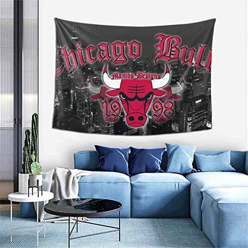Tapiz para colgar en la pared, diseño de Chicago Basketball Bu-lls