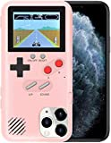 YLANK Gameboy Case for iPhone, Retro 3D Gameboy Design Style Silicone Cover Case with 36 Classic Retro Games,Color Screen Game Cover Case for iPhone 12/12 Pro 6.1inch