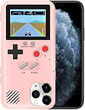 YLANK Gameboy Case for iPhone Retro 3D Gameboy Design Style Silicone Shockproof Cover Case with 36 Classic Retro Games,Color Screen Game Cover Case for iPhone  Pink for iPhone 6/6S/7/8-4.7