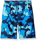 Kanu Surf Boys' Big Specter Quick Dry UPF 50+ Beach Swim Trunk, Camo Navy, 10/12