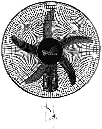 Byakns Muro de Negocios con Ventilador, oscilando |Cordón de Ajuste, Control Remoto |7,5 Horas Temporizador |Negro |Silencio |Ventilador eléctrico |Ventilador de Pared (Size : Mechanical)