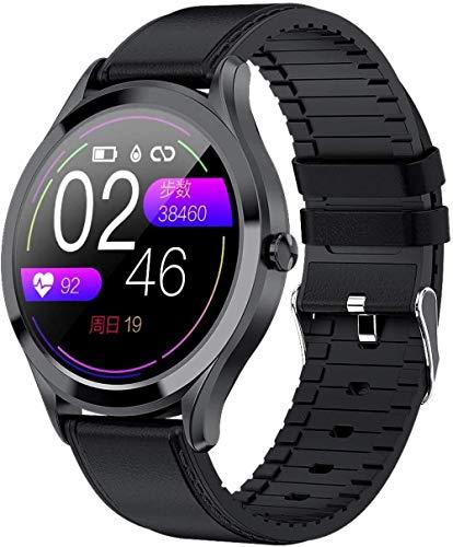 TYUI Reloj inteligente deportivo para hombre y mujer, resistente al agua IP67, con podómetro, compatible con teléfonos Android e iOS