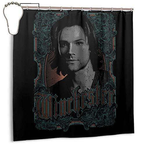 GSEGSEG Gseg Wasserdichter Polyester-Duschvorhang Supernatural Sam Winchester mit Haken, 182,9 x 182,9 cm