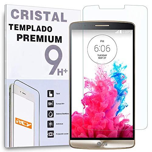 REY Protector de Pantalla para LG G3 Cristal Vidrio Templado Premium