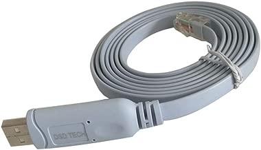 DSD TECH SH-RJ45A El Cable de Consola USB a RJ45 con Chip FTDI para routers/conmutadores NETGEAR de Cisco es Compatible con Windows Linux Mac OS