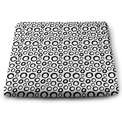 Lfhytd Abstract Circle Square Cotton Seat Cushion with Invisible Zipper Popular Handicrafts Pillow Dog-Pets Bed Comforts Washable Cushion Office Chair Car Wheelchair Sitting Anti-Slip Pillow