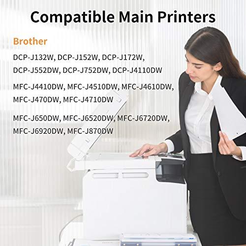 IUBEST LC123 Compatible con Brother LC-123 Cartuchos de tinta para Brother DCP-J132W J152W J172W J552DW J752DW J4110DW, MFC-J245 J470DW J650DW J870DW J4410DW J4510DW J4610DW J4710DW J6520DW J6720DW