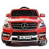 ATAA Mercedes ML350 Licenciado batería 12v - Rojo - Grandes Dimensiones 110*67*53cm
