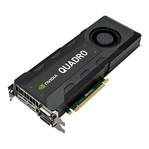 PNY NVIDIA QUADRO K5200 professionelle Grafikkarte 8 GB GDDR5 PCI-Express 4K 2 x DP + 2 x DVI + Stereo (VCQK5200-PB)