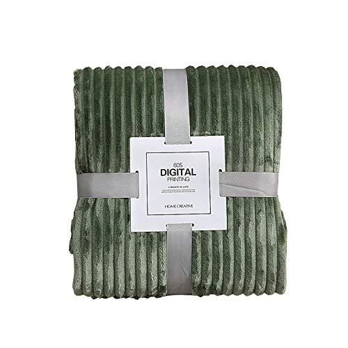 TUK Kuscheldecke, Warm Wohndecke Weiche Microfaser Flanell Sofadecke Tagesdecke Flauschige Decke für Kinder und Erwachsene Grün Mittel