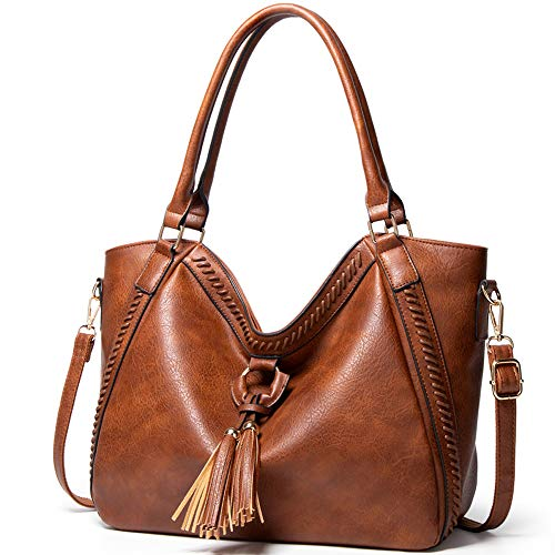 Purses and Handbags for Women Large Faux Leather PU Purse Tote Bag Large Shoulder Tote Satchel Purse Work Bags