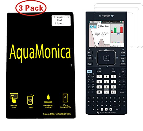 AquaMonica for TI Nspire CX & CX CAS Graphing Calculator Screen Protector Texas Instruments Screen Protection Pack of 3