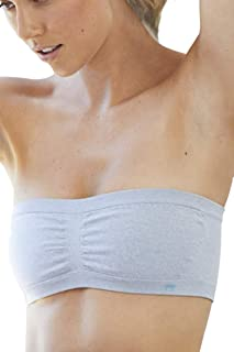 Women's Mimi Sexy Bandeau Yoga Sports Bra Comfortable Breathable Wirefree Seamless Removable Padded Cups