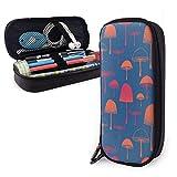 Estuches de lápices con cremallera multiusos para la escuela, suministros de oficina, diseño de setas y plantas (1)