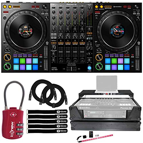 Great Features Of Pioneer DDJ-1000 4-Chan Club Style rekordbox DJ Pro Controller w 2U Case & Lock