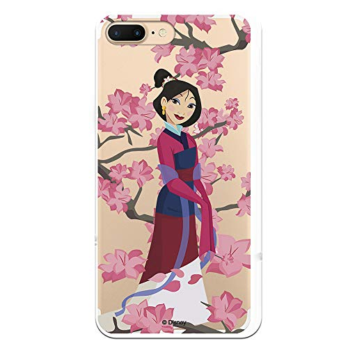 Funda para iPhone 7 Plus - iPhone 8 Plus Oficial de Mulan Mulan Vestido Granate para Proteger tu móvil. Carcasa para Apple de Silicona Flexible con Licencia Oficial de Disney.