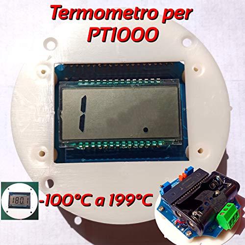 PT1000 Digitales Thermometer mit LCD-Display und Batteriebetrieb