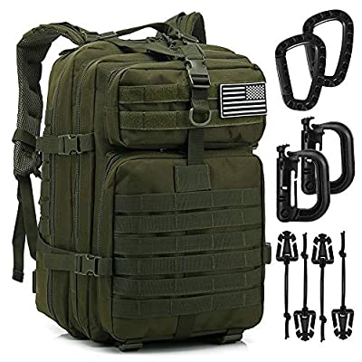 Tactical Backpack - 1000D Military Molle Army 3 Day Assault Pack Backpacks 40L (1 Pack Green)