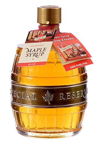 Turkey Hill Premium Grade A Pure Canadian Maple Syrup 500 ml Old-Fashioned Glass Barrel