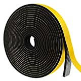 Weather Stripping Door Seal Strip, Foam Insulation Tape Self Adhesive for Doors and Windows,Sliding Door,Air Conditioning,HVAC,Cooling,Soundproofing,Weatherproof,Seal (1In x 3/8In x 16.5Ft)