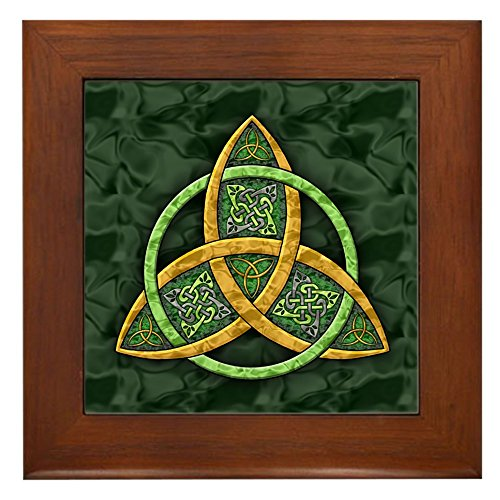 CafePress Celtic Trinity Knot Framed Tile, Decorative Tile Wall Hanging