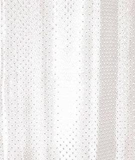 con bordo rinforzato e occhielli a prova di ruggine Luxxur TM superiore Anti-batterico 250 cm x altezza 200 cm /& Bianco-Tenda da doccia in poliestere lavabile in lavatrice