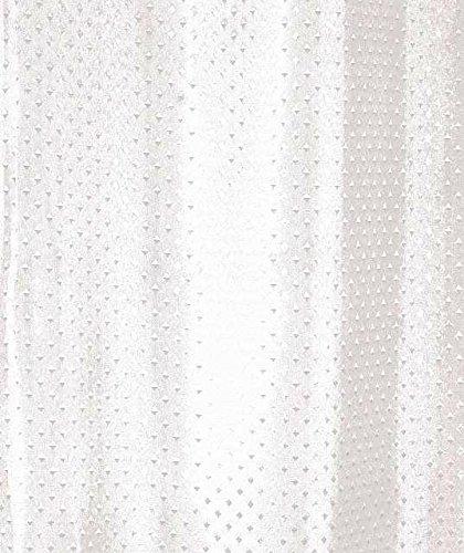 Luxxur TM Superior Diamant weiß Texturiertes Polyester Stoff Duschvorhang, extralang, Größe: 180cm breit x 220cm lang
