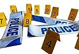 Kobe1 Police, Novelty Barrier Tapes(3m) &Small Photo Evidence Frames, 1-10 Cards (7cm x 4cm folded)