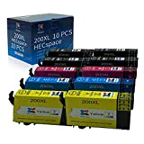 HECspace Remanufactured Ink Cartridge Replacement for Epson 200XL T200XL use for Workforce WF-2520 WF-2530 WF-2540 Expression XP-200 XP-300 XP-310 XP-400 XP-410 (4 Black, 2 Cyan, 2 Magenta, 2 Yellow)