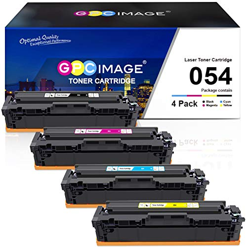 GPC Image Compatible Toner Cartridge Replacement for Canon 054 CRG-054 054H to use with Color ImageClass MF644Cdw LBP622Cdw MF642Cdw MF640C LBP620 Toner Printer (1 Black, 1 Cyan, 1 Magenta, 1 Yellow)