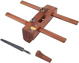 ZGQA-GQA Cepilladora manual de doble mango para carpintería, con mango y herramientas de recorte artesanales con hoja de corte de filo práctico avión retro