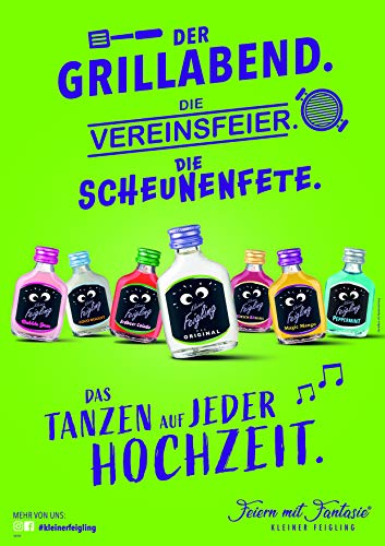Kleiner Feigling | Peppermint | 1 x 500ml | Marken-Spirituose | Premium Likör | Feiern mit Fantasie | Der Party – Shot - 4