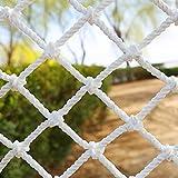 Red de Cuerda de Poliéster Blanca Red de Seguridad Red de Protección Infantil para Escaleras de Balcón Anti-caída, Valla de Decoración de Plantas de Jardín Red de Carga de Camion(Size:1*4m/3.3*13.1ft)