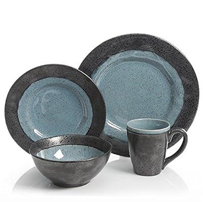 Gibson Dragonstone 16 pc Dinnerware Set Stoneware