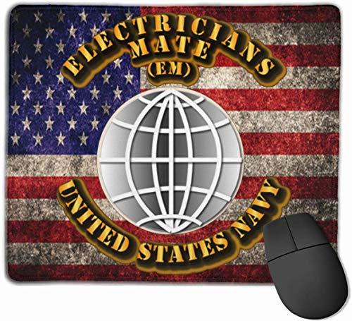 US Navy Rate Elektriker Mate US-Flagge Mousepad rutschfeste Gaming-Mausunterlage Mousepad