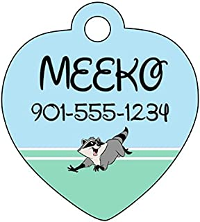 uDesignUSA Disney Pocahontas Meeko Pet Id Tag for Dogs & Cats Personalized w/Name & Number