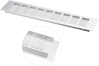 uxcell Air Vent, 400mmx80mm, Ventilation Grille Aluminum Alloy Louvered Grill Cover