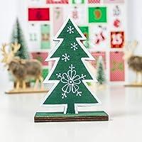 室内装飾 クリエイティブ木製塗装スノーフレーククリスマスツリーの飾り ホームデコレーション (Color : Green)