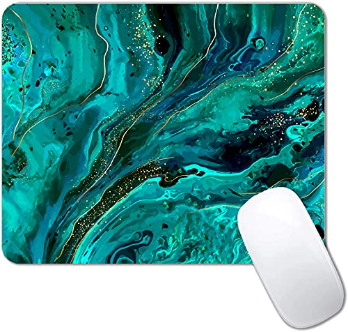Green Marble Mouse Pad Non-Slip Rubber Base Gaming MousePads for Computers Laptop Office,Cute Mouse Pads with Designs for Women ,9.5'x7.9'x0.12'( 240mm x 200mm x 3mm)