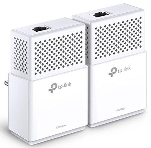 TP-Link TL-PA7010-KIT Netzwerkadapter Set (bis zu 1000 Mbit/s über Powerline, 2 Gigabit Port, kompatibel zu allen gängigen Powerline Adaptern, ideal für HDTV, deutsche Version, energiesparend) weiß