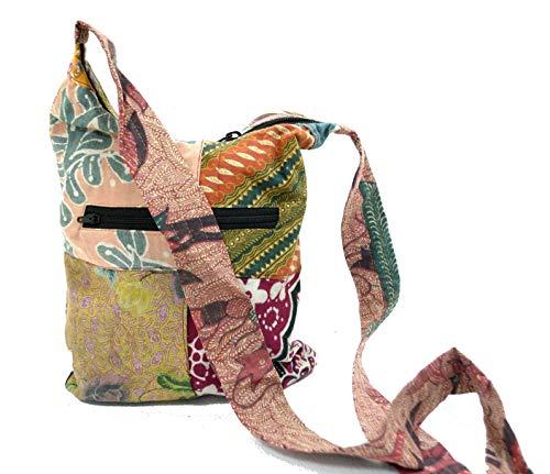 Terrapin Trading Sac à bandoulière Vintage rétro recyclé Batik Batik Festival Hippy Sattchel