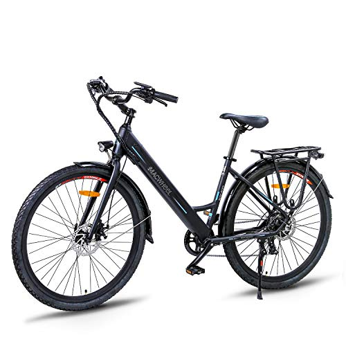 26' Electric Bike, Removable 36V/10Ah Lithium-ion Battery, Shimano 7-Speed, Seat Adjustable, Tektro Dual Disc Brakes, Electric Commuter City Bike(Ranger-500)