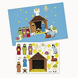 Make-A-Nativity Sticker Sets
