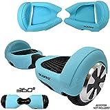 SILISKINZ Étui de protection en silicone en silicone à 360 degrés - pour scooter de 6,5 po à balancier intelligent (BÉBÉ BLEU)