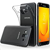 Peakally Coque Samsung Galaxy J7 Duo 2018, Ultra Fine TPU Silicone Transparent Souple Housse Etui...