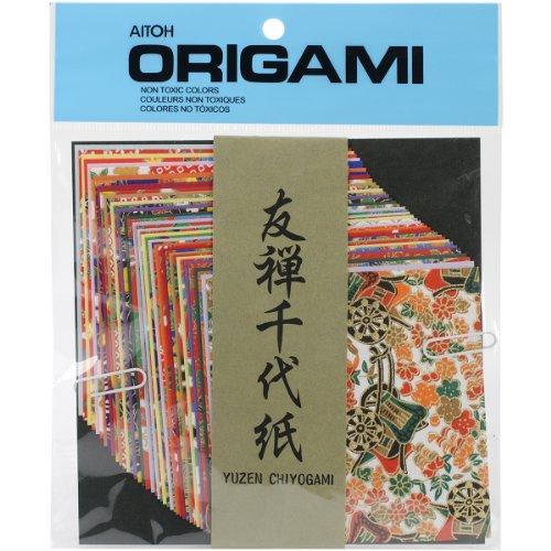 Aitoh Yuzen Washi Chiyogami Origami-Papier, 10,2 cm, 40 Blatt