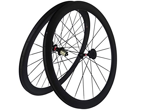Flyxii Full Carbon 3K Road Bike Bicicletta Clincher 50mm Hub Wheel Rim Razze per Shimano 8/9/10/11S